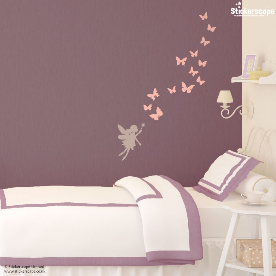 Fairy and butterflies wall sticker set | Fairy wall stickers | Stickerscape | UK