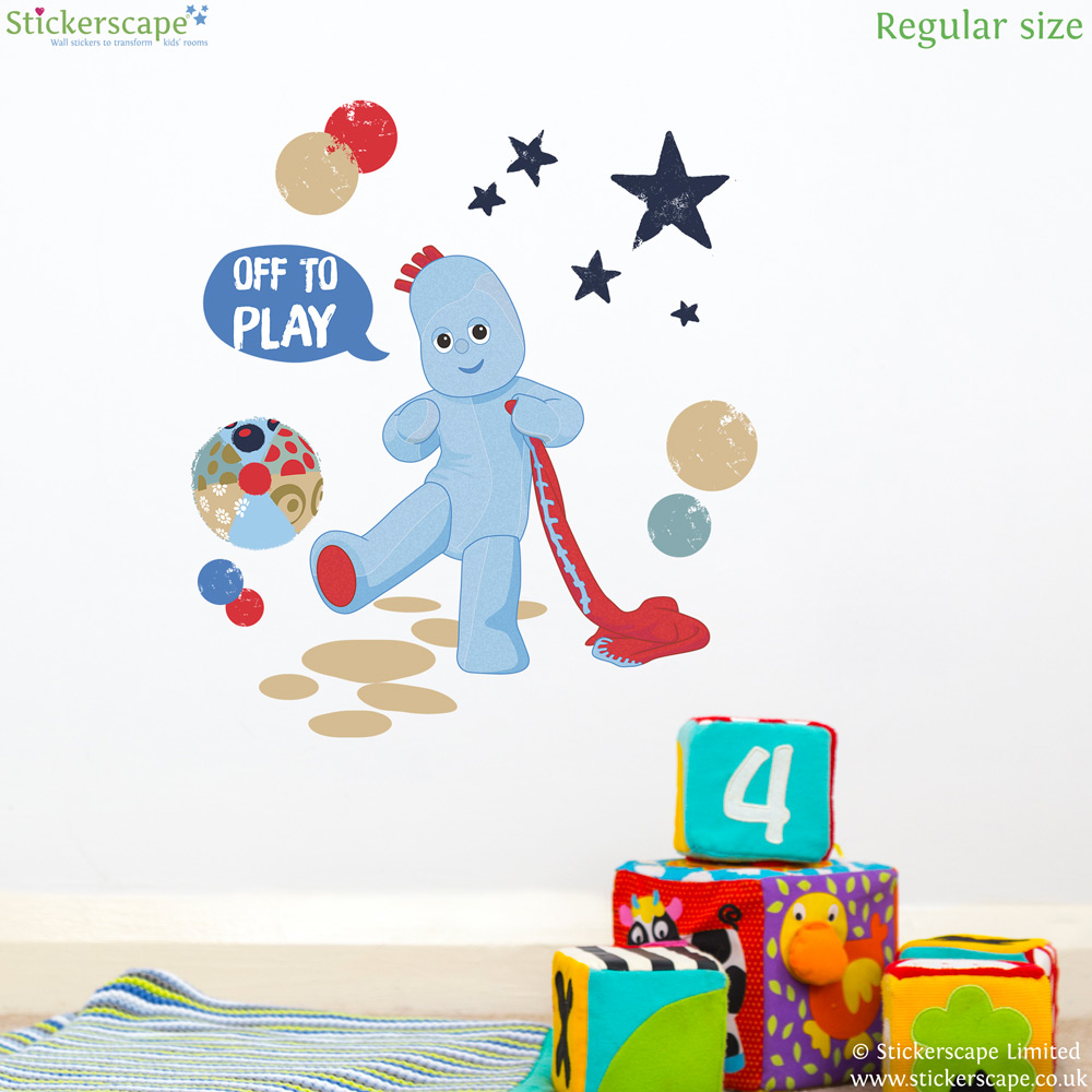 igglepiggle off to play wall sticker stickerscape uk in the night garden friends wall sticker stickerscape uk