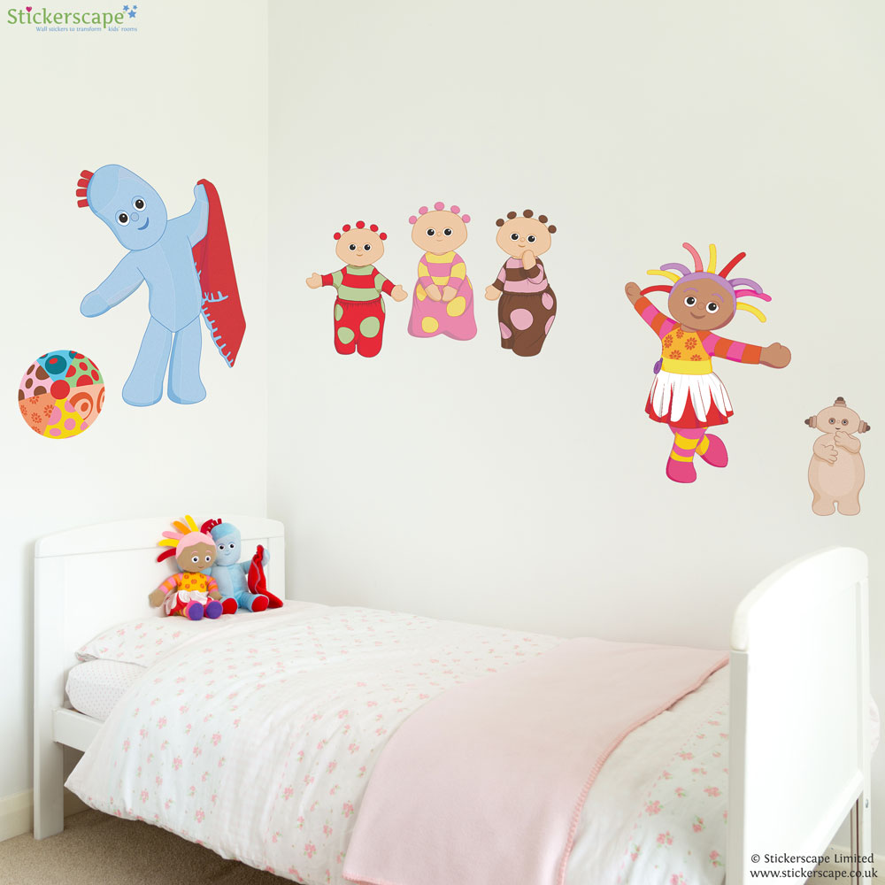 in the night garden friends wall sticker stickerscape uk decofun in the night garden wall sticker stikarounds