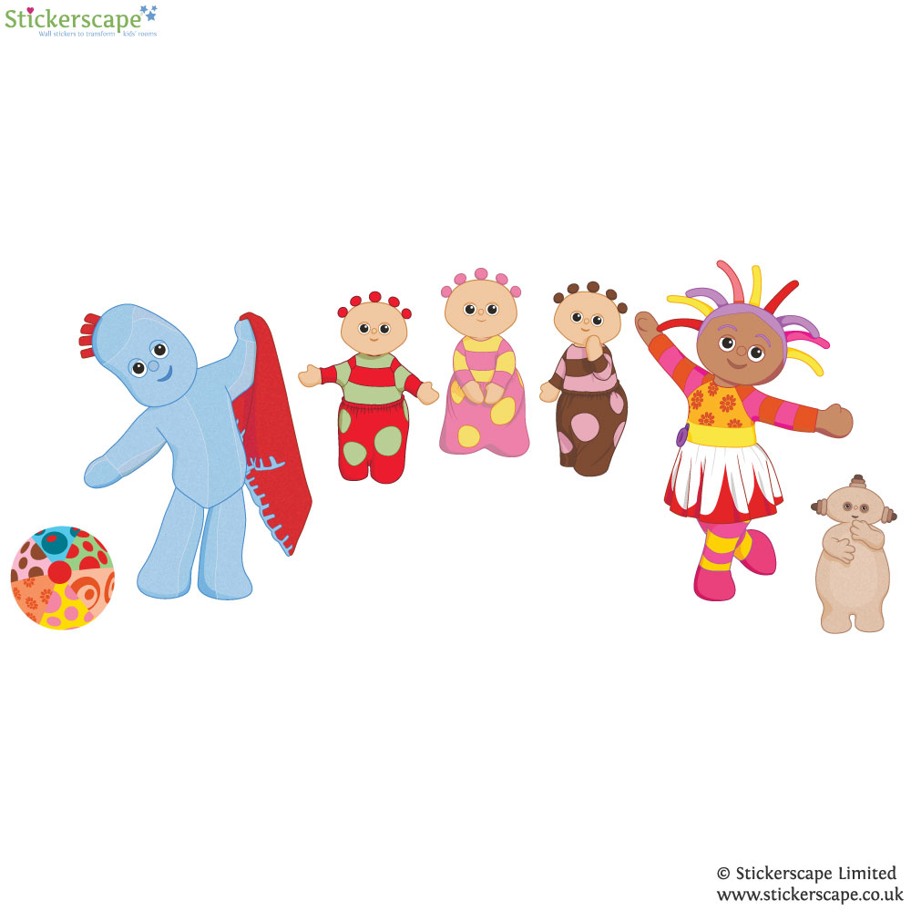 in the night garden friends wall sticker stickerscape uk wall stickers ebay