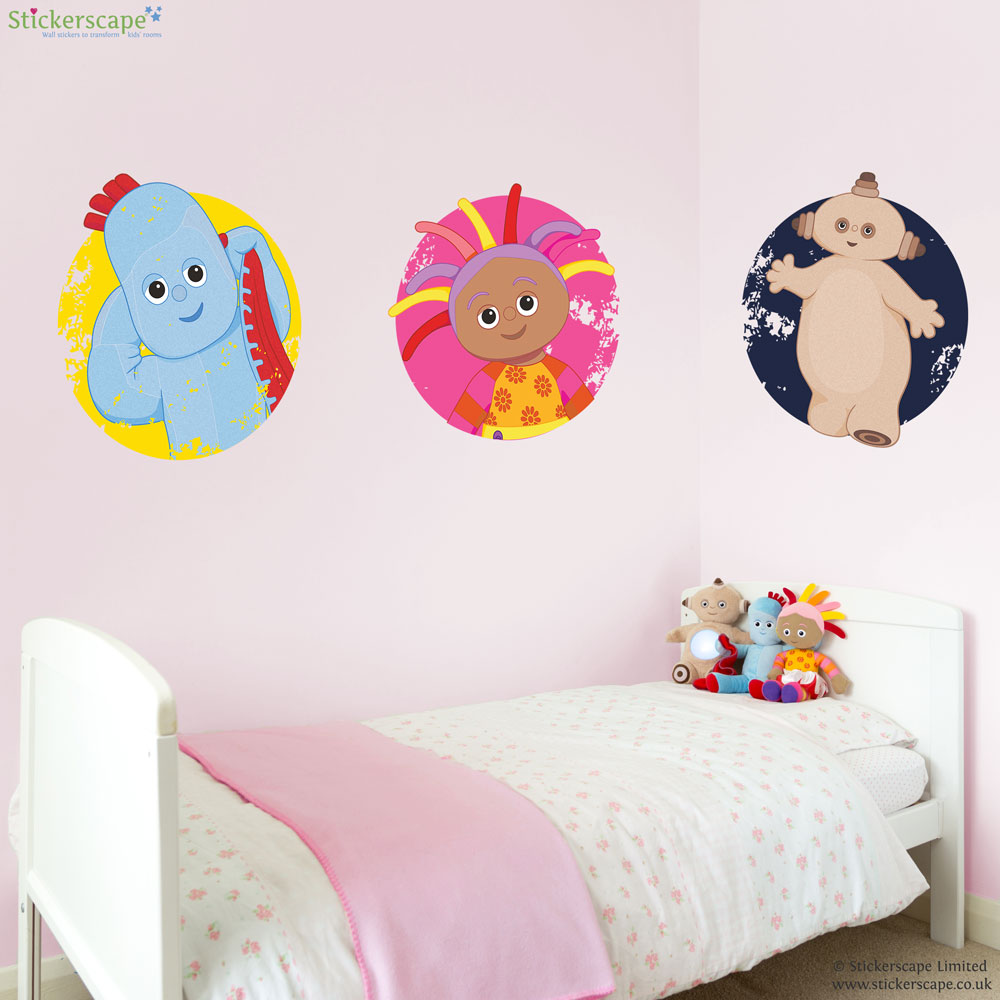 in the night garden badge wall stickers stickerscape uk igglepiggle off to play wall sticker stickerscape uk