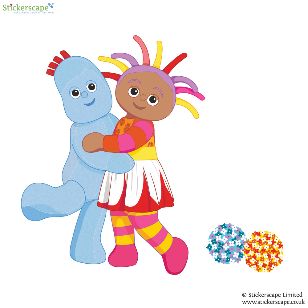 igglepiggle and upsy daisy hug wall sticker stickerscape hug clipart hug hug clipart hug
