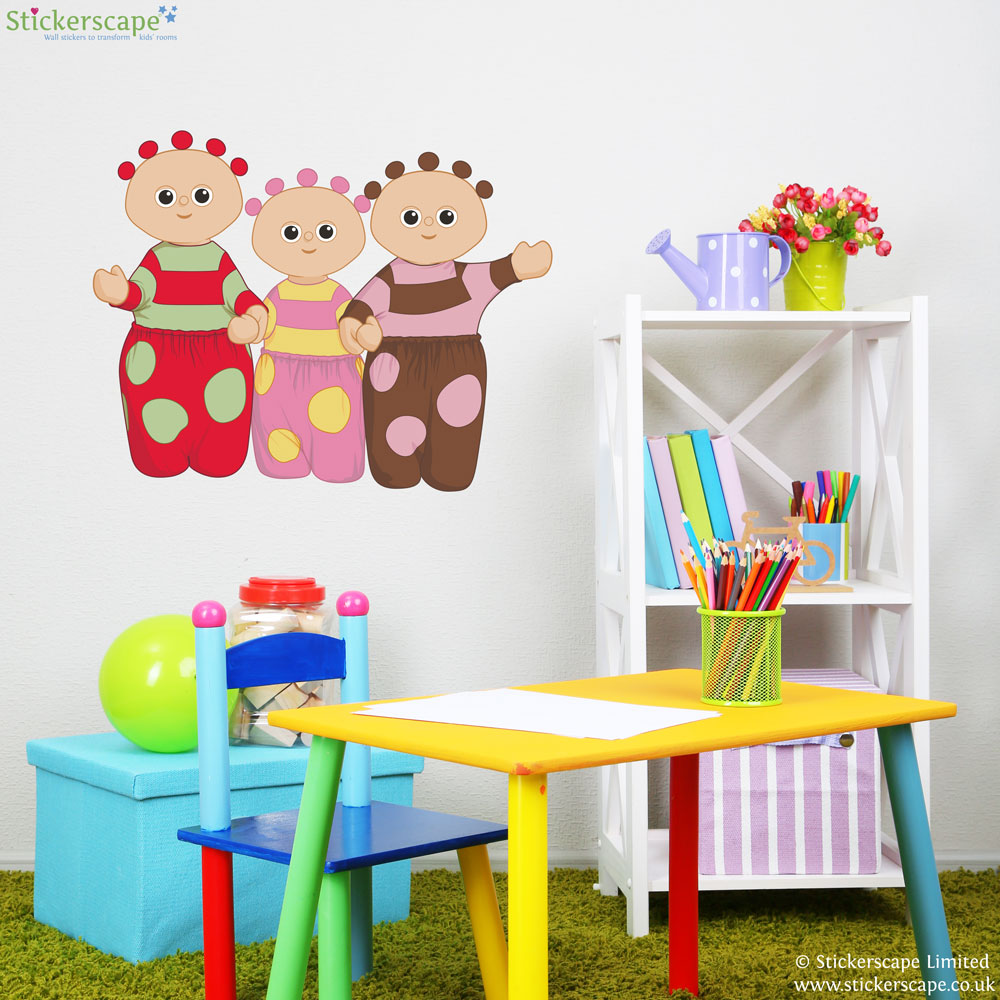 tombliboos wall sticker stickerscape uk decofun in the night garden schiuma elementi adesivi da