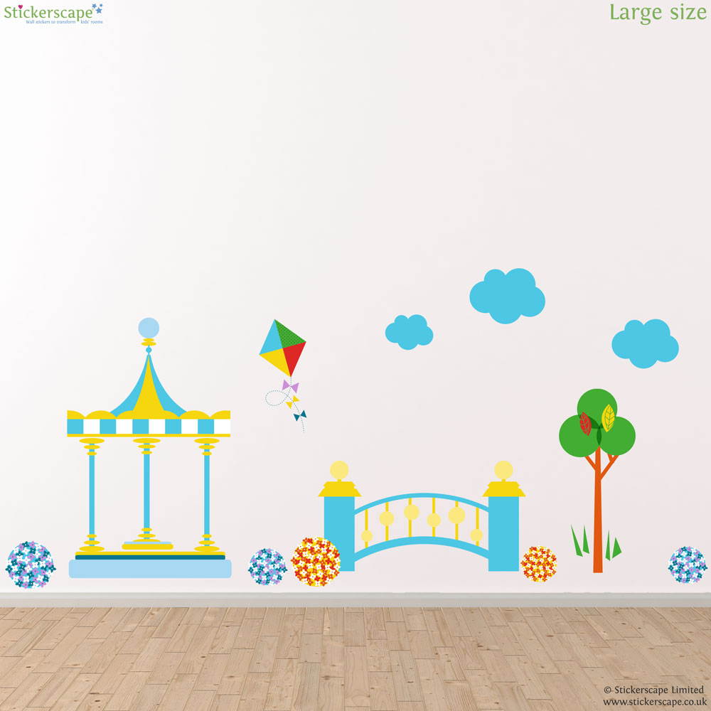in the night garden bridge scene wall sticker pack in the night garden wall stickers totally movable and