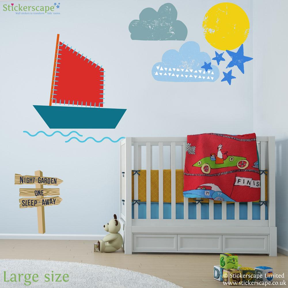 In The Night Garden Boat Scene Wall Sticker Pack Part 25