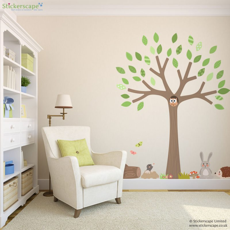 Spring woodland tree wall sticker