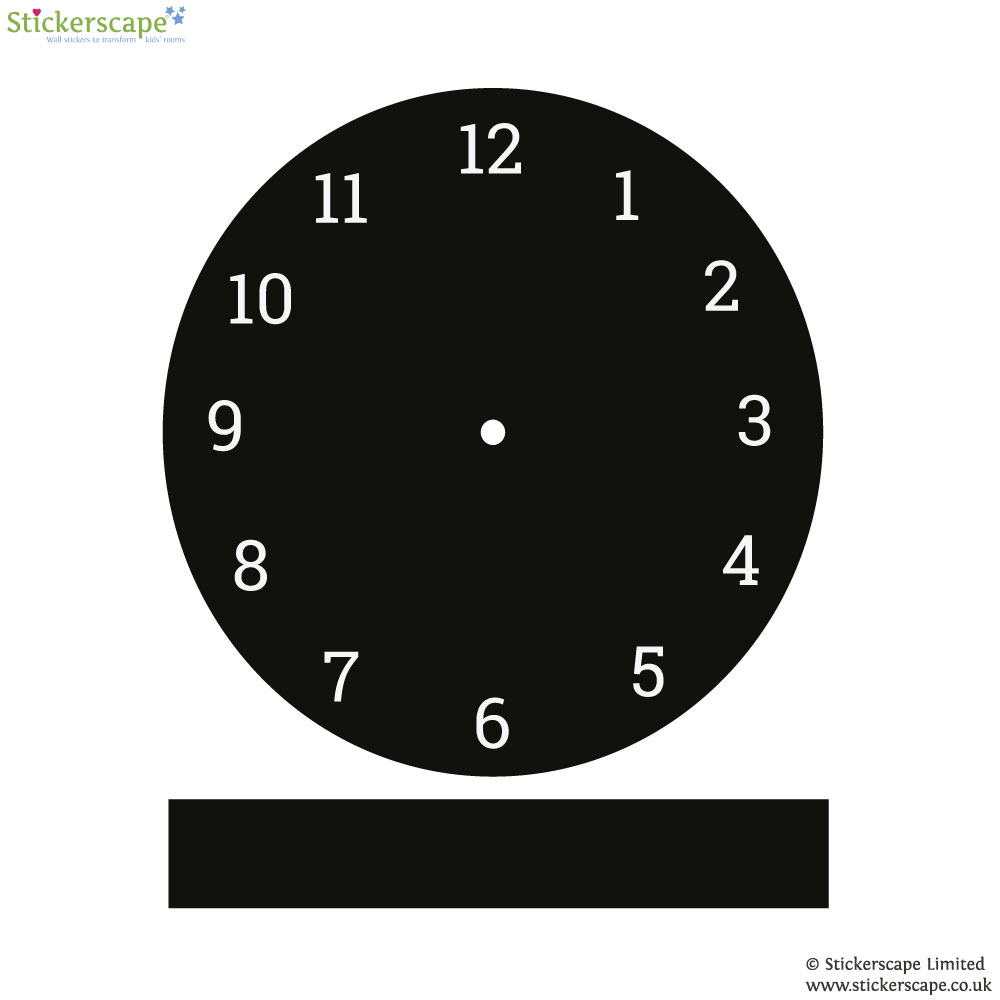 clock chalkboard wall sticker stickerscape uk