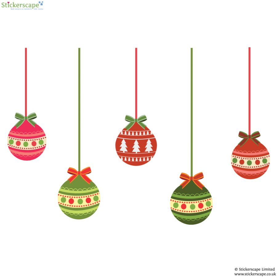 Christmas bauble window stickers (Option 1) | Christmas window stickers | Stickerscape | UK