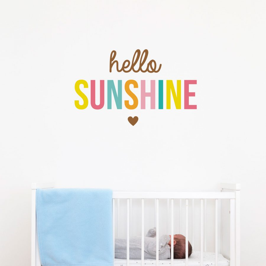 Hello Sunshine quote wall sticker | Wall sticker quotes | Stickerscape | UK