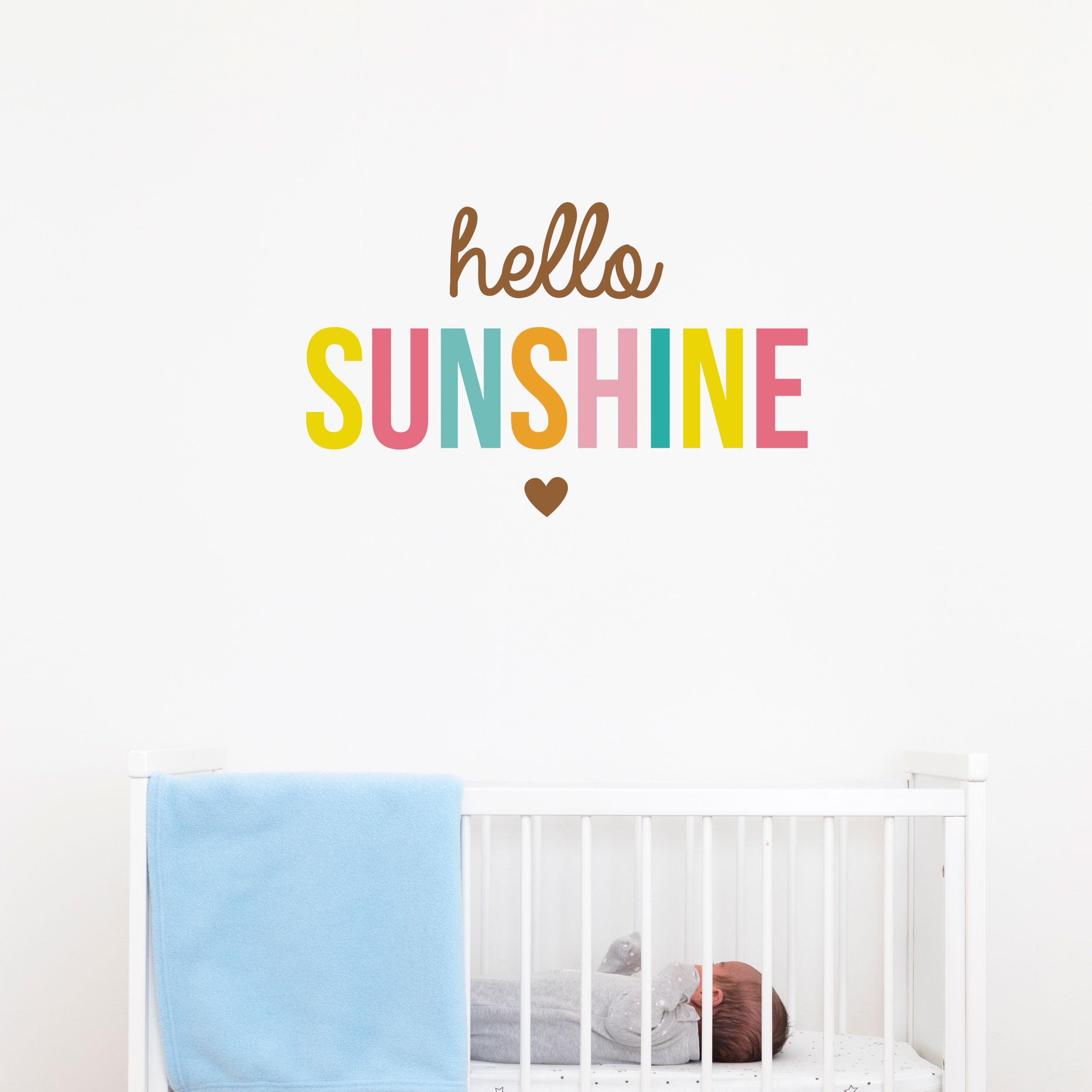 Hello Sunshine Wall Sticker Quote Part 83