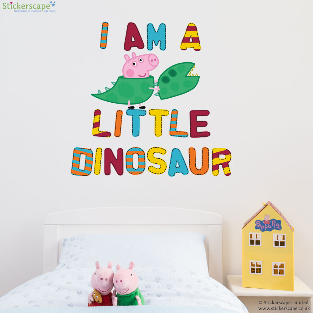 George Is A Little Dinosaur Wall Sticker Part 49