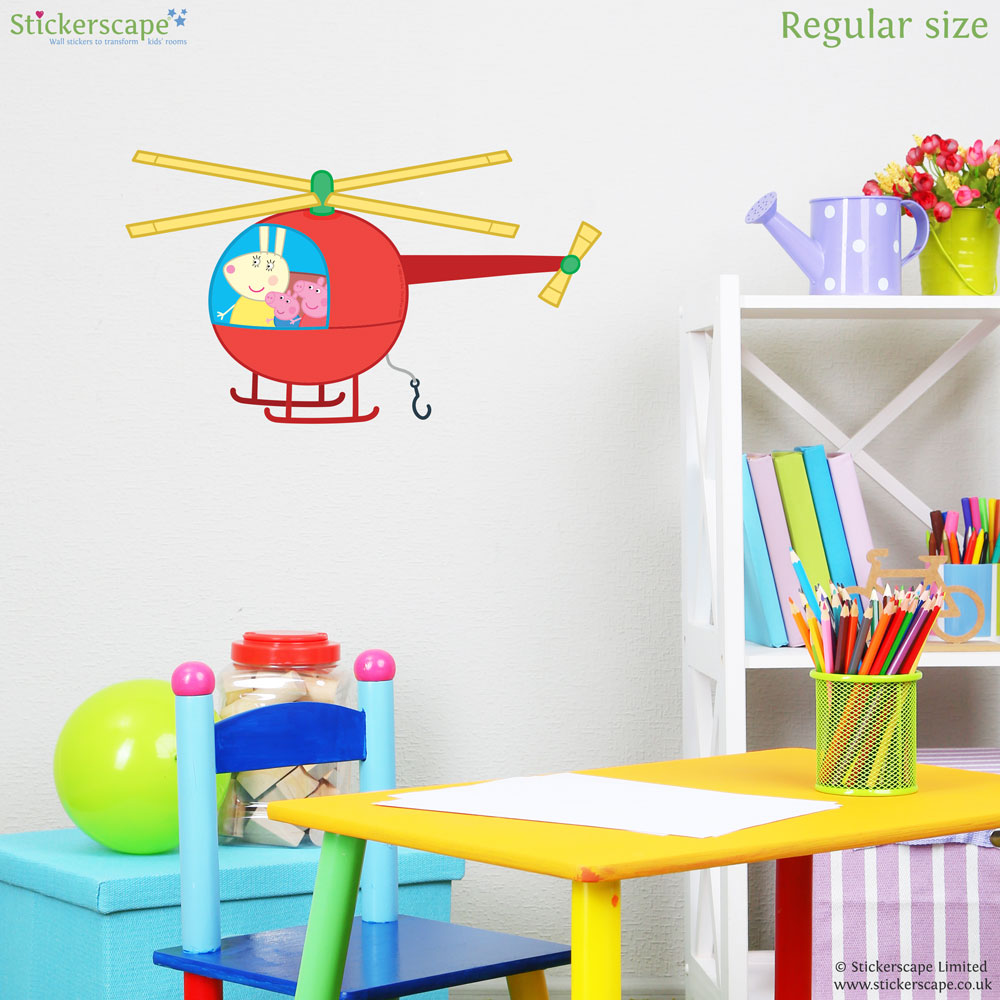 Peppa pig helicopter wall sticker stickerscape uk peppa pig helicopter wall sticker amipublicfo Images
