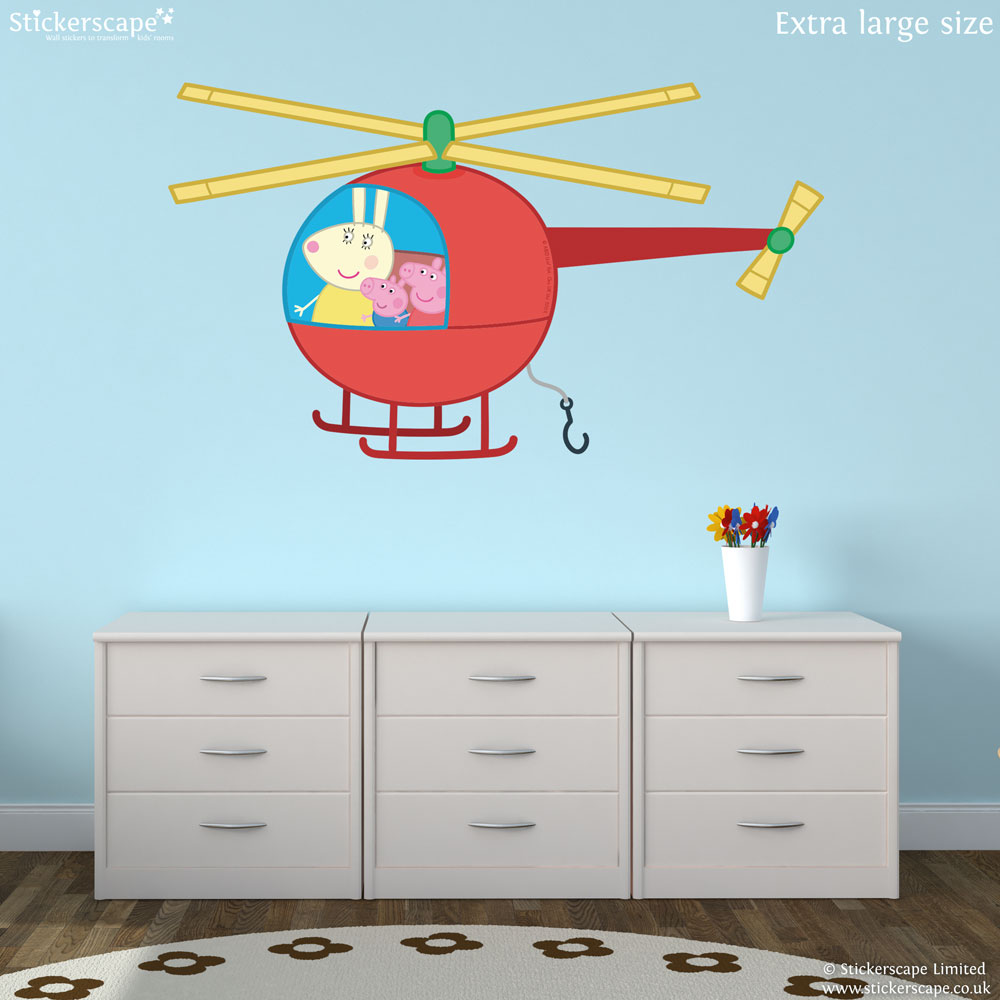 Peppa Pig Helicopter Wall Sticker Part 54