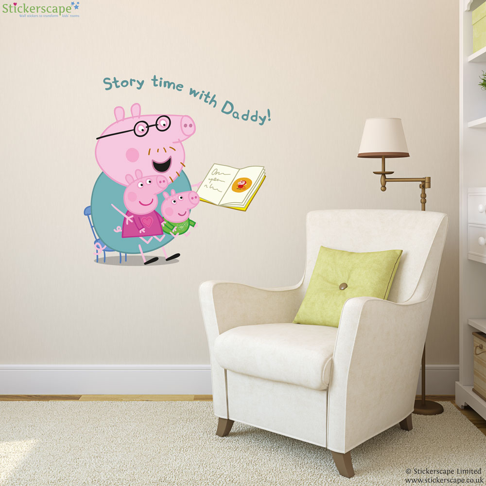 Peppa Pig Story Time Wall Sticker Part 33