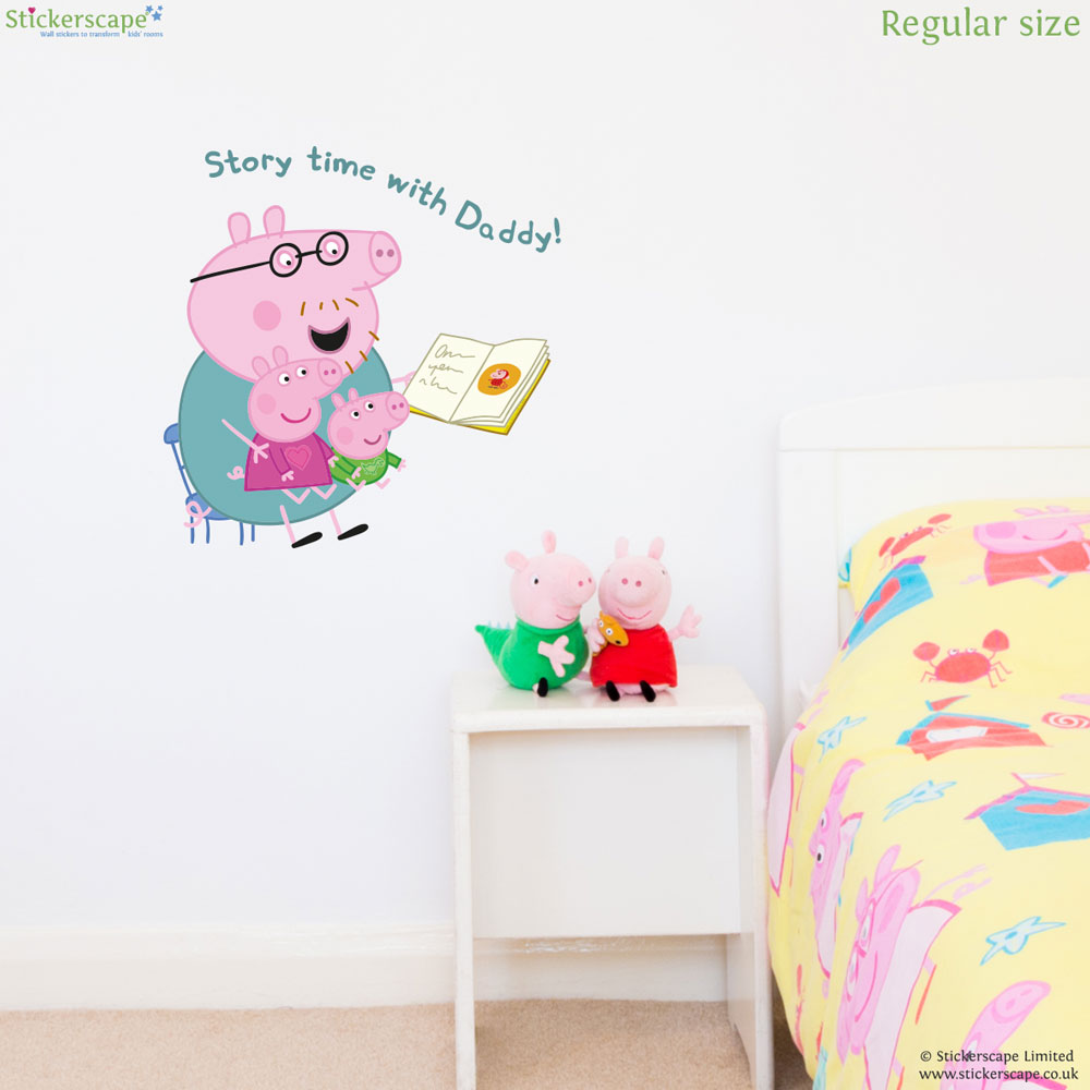 Peppa pig story time wall sticker stickerscape uk peppa pig story time wall sticker amipublicfo Images
