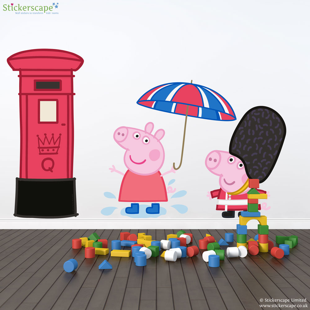 Glorious Britain Peppa Pig And George Wall Stickers Pack Part 66