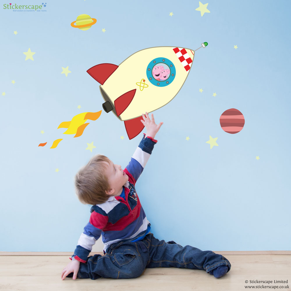 Peppa Pig And George In Space Wall Stickers Pack Part 76