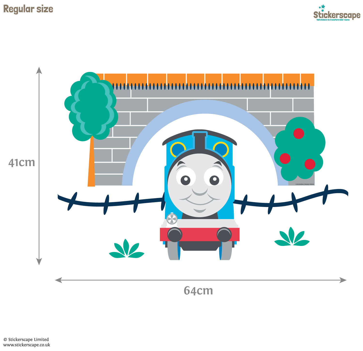 Thomas The Tank Engine Wall Stickers Thomas Amp Friends Tunnel Wall Sticker Pack Stickerscape Uk