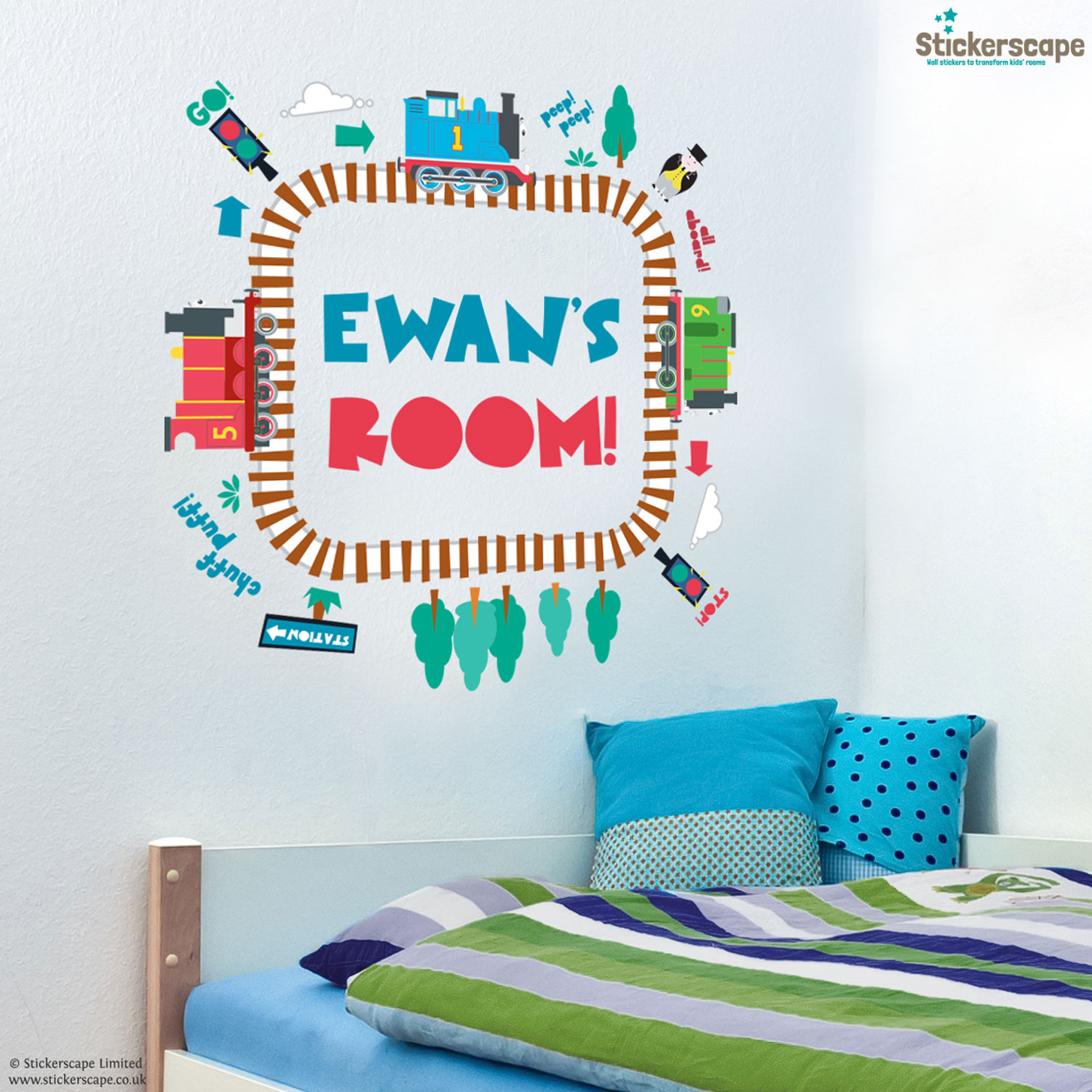 wall stickers personalised wall stickers personalised personalised thomas the tank engine wall stickers thomas and friends wall stickers