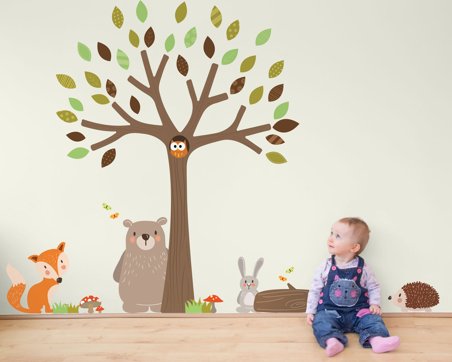 Woodland Friends wall stickers