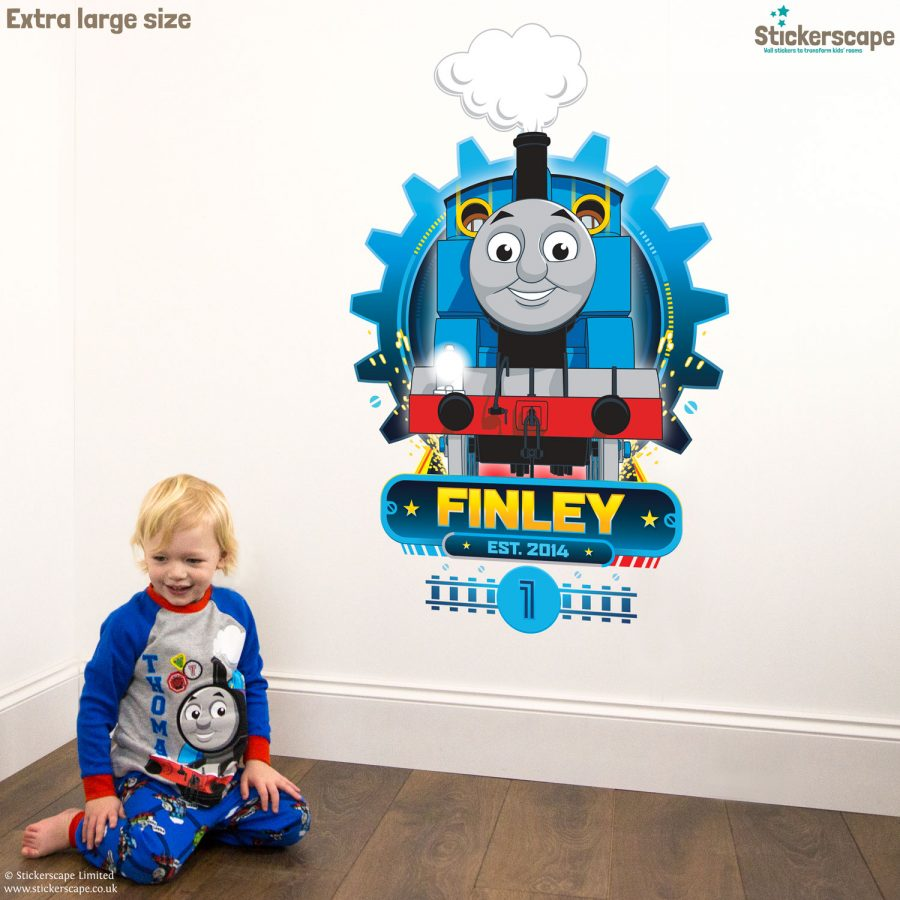 Personalised Thomas Cog wall sticker (Extra large size) | Thomas the tank engine wall stickers | Stickerscape | UK