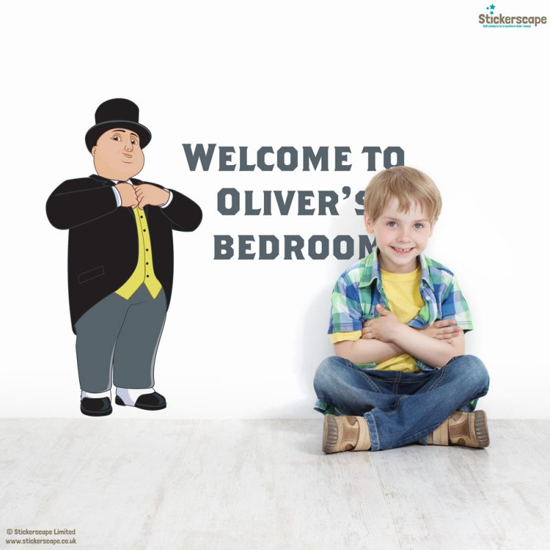 Personalised Sir Topham Hatt wall sticker | Thomas the Tank Engine wall stickers | Stickerscape | UK