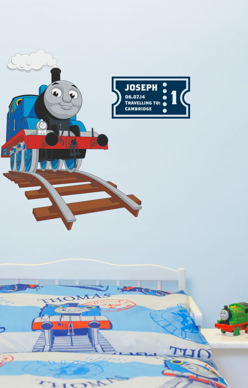 Personalised Thomas ticket wall sticker | Thomas and Friends | Stickerscape | UK