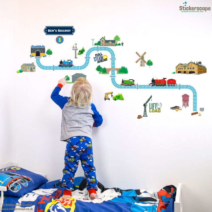 Personalised Thomas and Friends track wall sticker | Stickerscape | UK