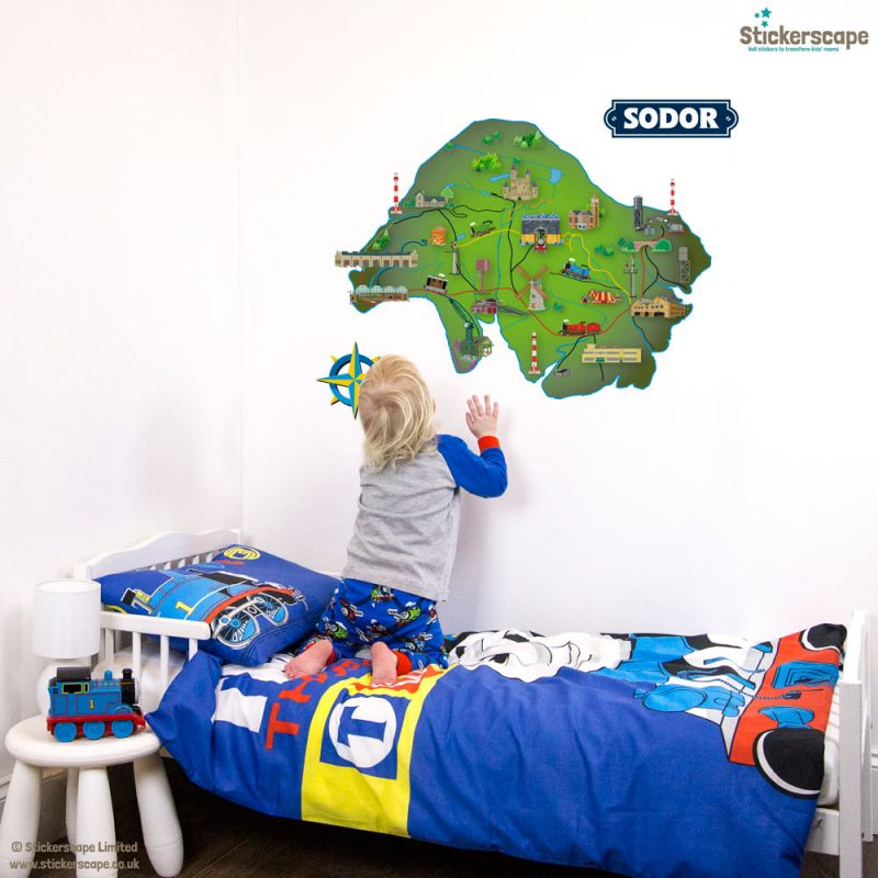 Sodor Island map wall sticker | Thomas and Friends | Stickerscape | UK