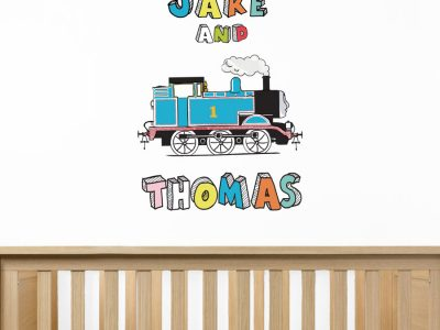 Personalised Cartoon Thomas wall sticker | Thomas the Tank engine wall stickers | Stickerscape | UK