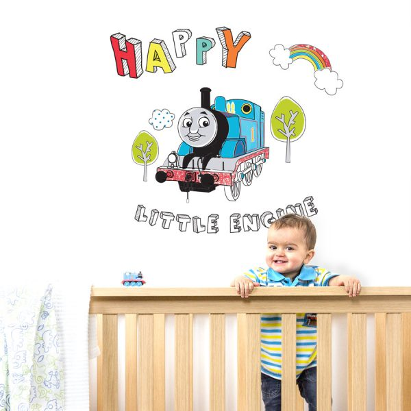 Happy Little engine wall sticker | Thomas and Friends | Stickerscape | UK