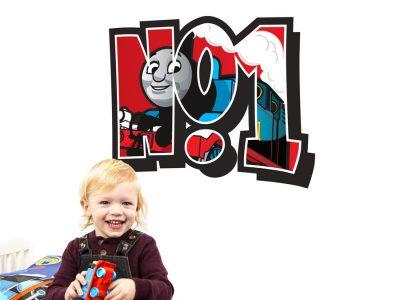 No.1 Thomas the tank engine wall sticker | Thomas & Friends | Stickerscape | UK