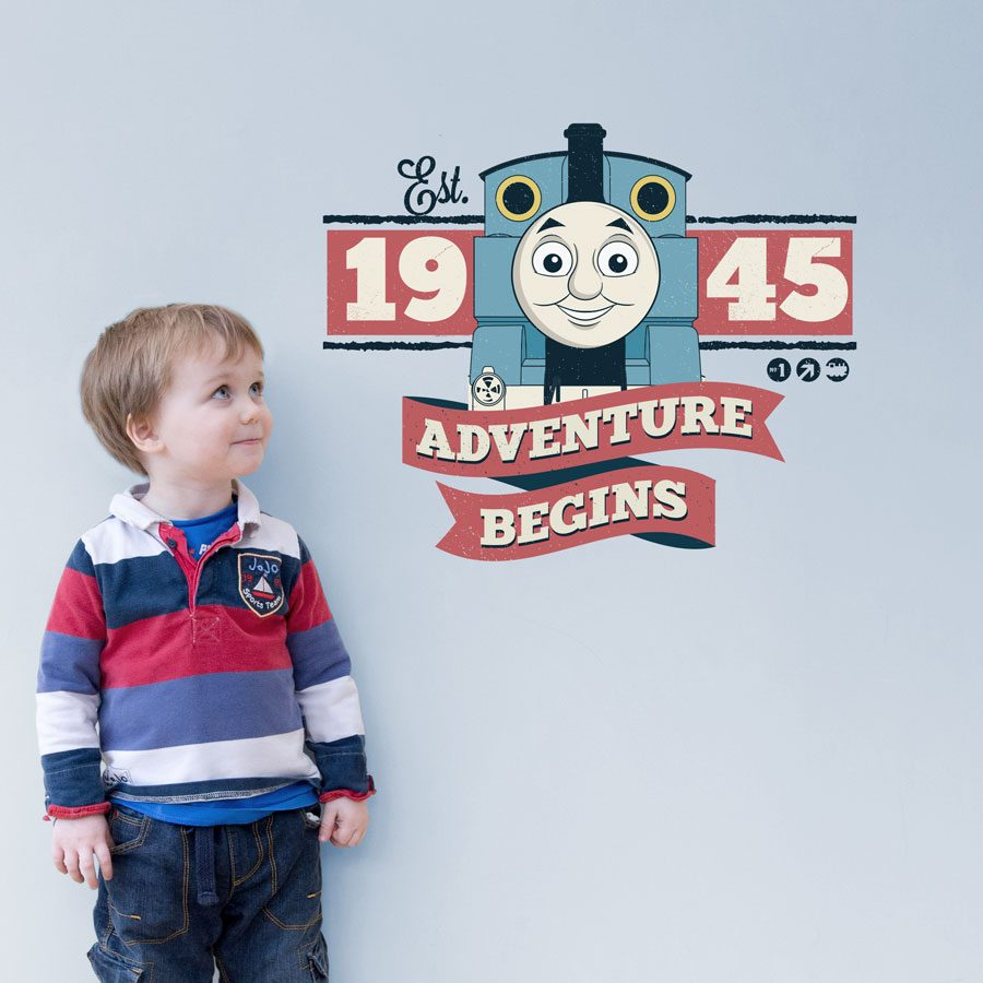 Retro Thomas the tank engine wall sticker | Thomas and Friends | Stickerscape | UK