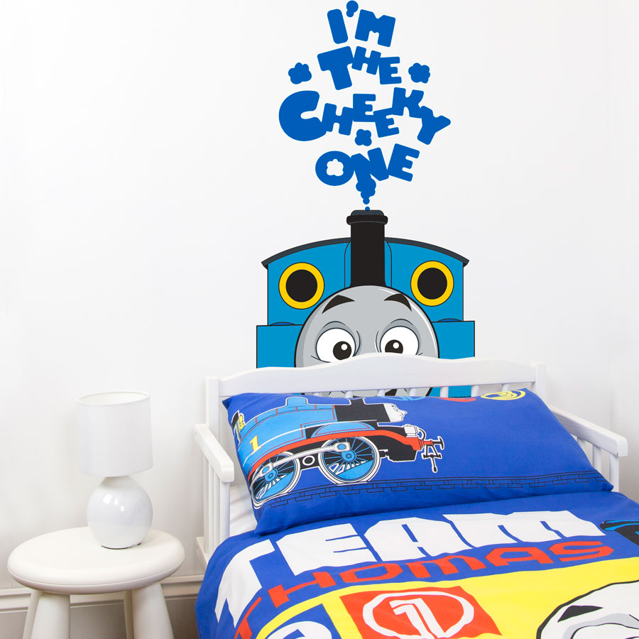 thomas the cheeky one wall sticker thomas and friends uk. Black Bedroom Furniture Sets. Home Design Ideas