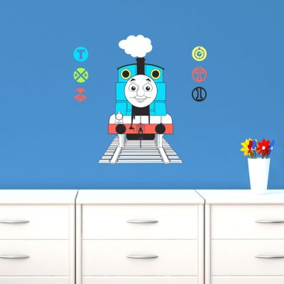 Thomas with railway signs wall sticker   Thomas the tank engine   Stickerscape   UK