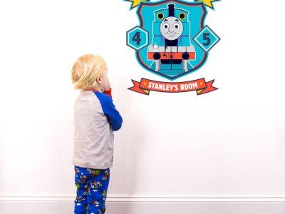 Personalised Thomas badge wall sticker | Thomas the tank engine | Stickerscape | UK