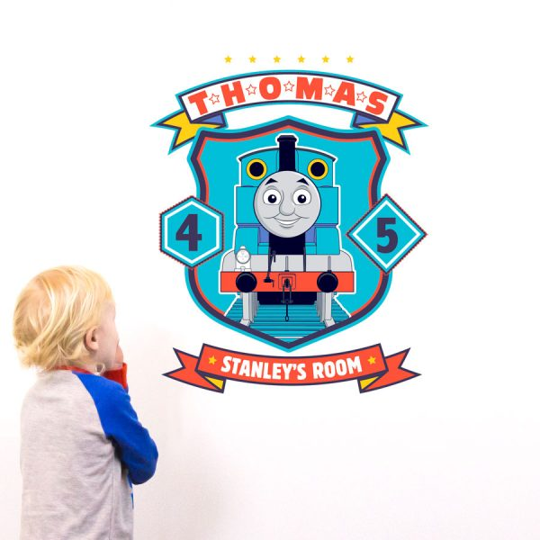 Personalised Thomas badge wall sticker | Thomas the tank engine | Stickerscape | UK