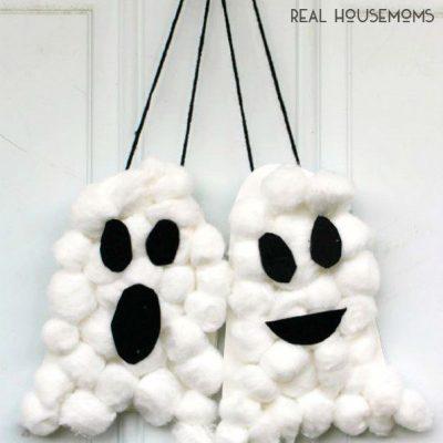 Cotton wool ghosts   Halloween craft ideas for kids   Stickerscape   UK