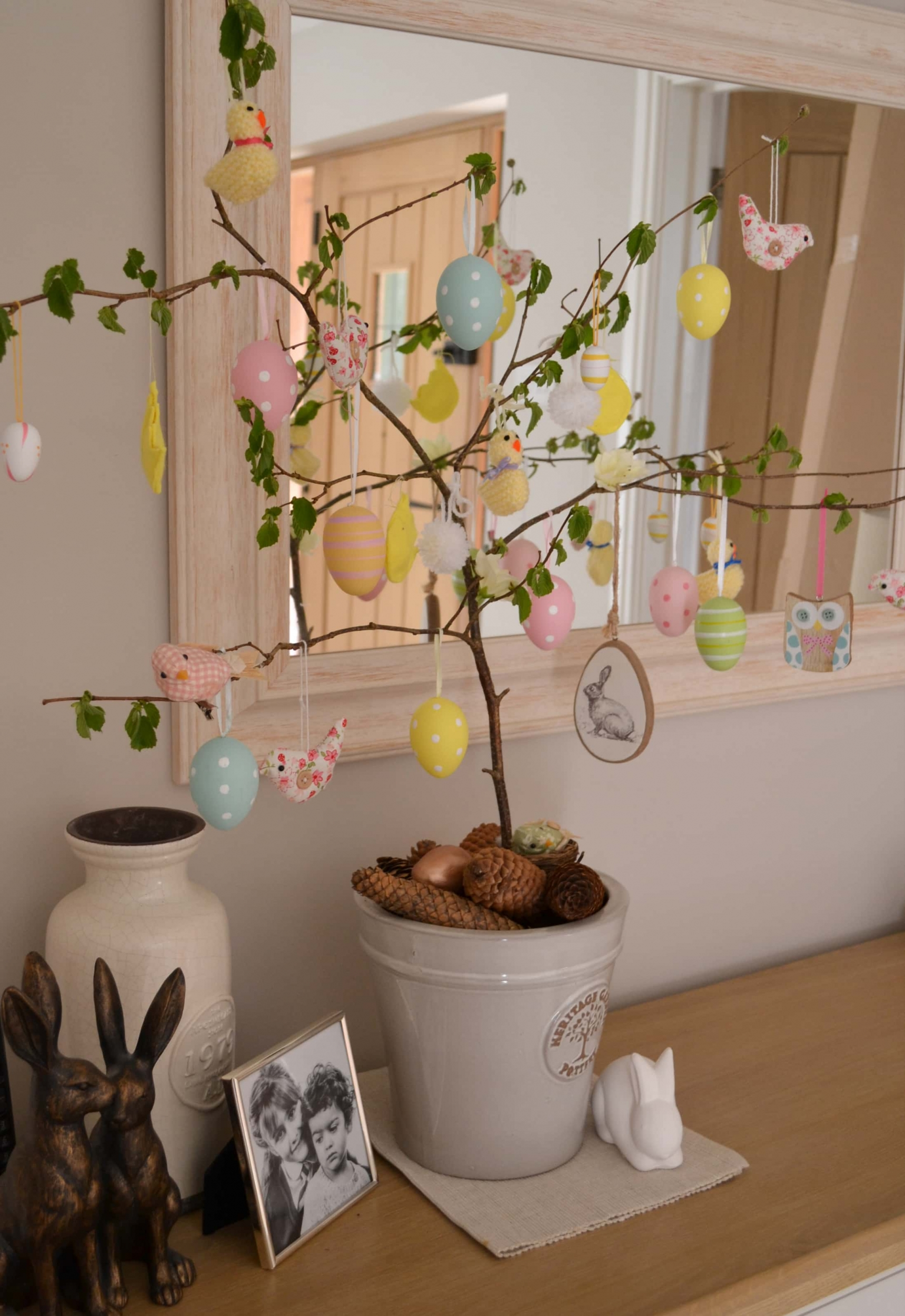 easter holiday lockdown ideas for children easter egg tree
