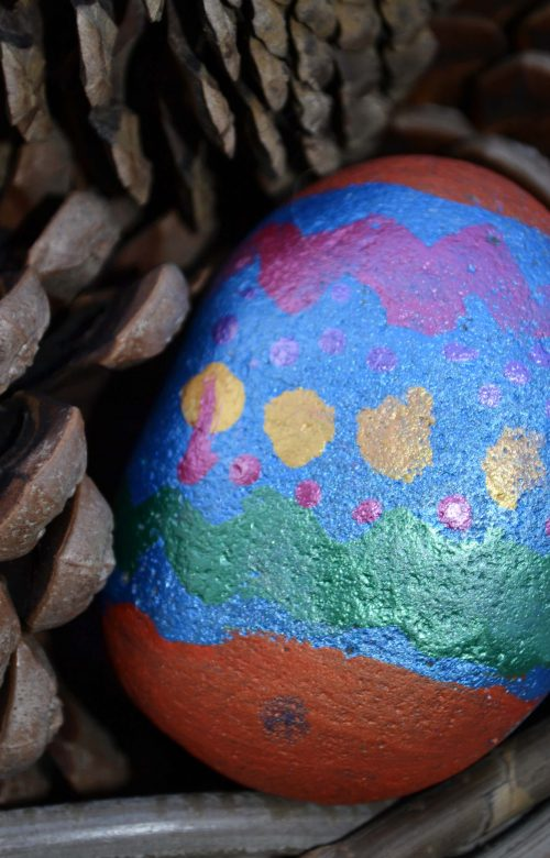 easter holiday lockdown ideas for children painting stones for Easter