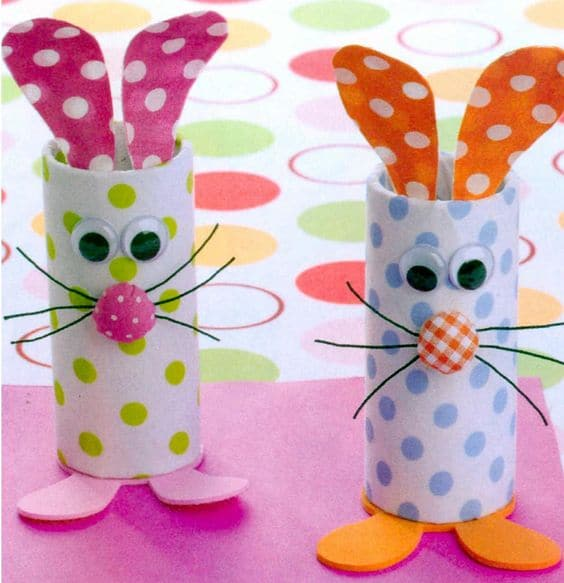 eater art and crafts ideas for kids bunnies with toilet rolls