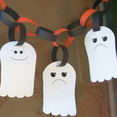Ghost pa[per chains   Halloween craft ideas for kids   Blog   Stickerscape   UK