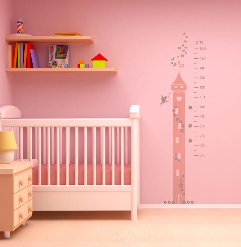 Fairy princess height chart wall sticker | Fairy Princess theme