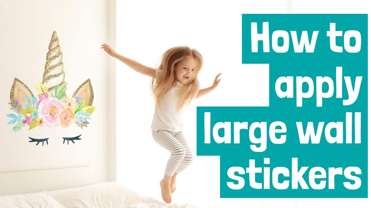 How to apply large wall stickers video application guide