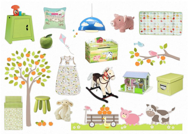 Nursery Themes A Farm Yard Theme Stickerscape
