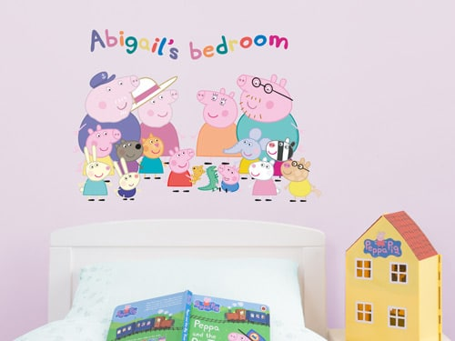 Peppa Pig wall stickers | Stickerscape | UK