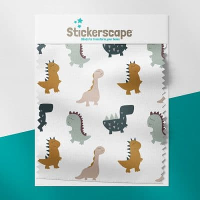 Cute Dinos swatch for roller blind