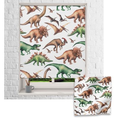 Jurassic Dinosaur roller blind includes a dinosaur themed roller blind perfect for decorating a children's room