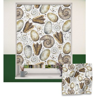 Dinosaur Fossils roller blind includes a dinosaur themed roller blind perfect for decorating a children's room