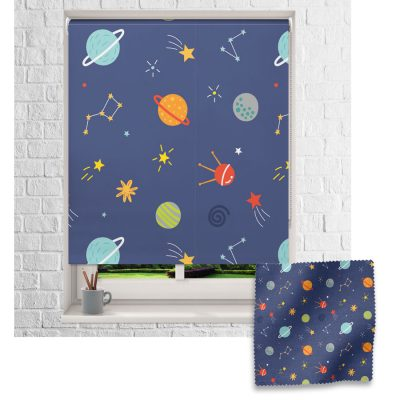 Multicoloured Space roller blind includes a space themed roller blind perfect for decorating a children's room